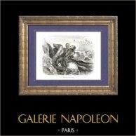 Geschichte von Napoleon Bonaparte - Koalitionskriege - Schlacht bei Leiptzig (1813) - Tod von Poniatowski Marschäll des Kaiserreichs