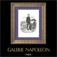 Histoire de Napoléon Bonaparte - Portrait de Lazare Carnot - Général - Bataille de Wattignies   Gravure sur bois originale dessinée par A. Raffet, gravée par H. Lavoignat. [tiré à part]. 1839
