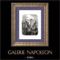 Histoire de Napoléon Bonaparte - Cent-Jours - Napoléon au Champ de Mai sur le Champ de Mars (1815) | Gravure sur bois originale dessinée par A. Raffet, gravée par Seaps. [tiré à part]. 1839