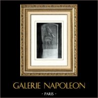 Ancient Egypt - Egyptology - Abydos - Pharaoh Wadj - Tomb Stele of Djet | Original heliogravure on art paper. Anonymous. 1920