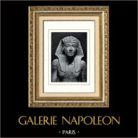 Ancient Egypt - Egyptology - The Egyptian Art - Pharaoh - Statue of Tutankhamun (Karnak) | Original heliogravure on art paper. Anonymous. 1920