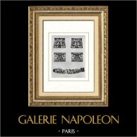 Ancient Egypt - Egyptology - The Egyptian Art - Ancient Jewels - Crown - Senusret III - Sesostris II - Netjerkeperu - Seshemtawy - Khnoumit | Original heliogravure on art paper. Anonymous. 1920