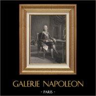 Portrait de Talleyrand - Homme Politique et Diplomate Français (1754-1838) | Gravure sur acier originale dessinée par Massard, gravée par Goutière. 1840
