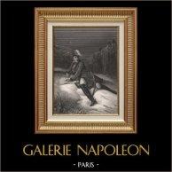 Portrait de Maréchal Ney - Guerres Napoléoniennes - Maréchal d'Empire (1769-1815) | Gravure sur acier originale dessinée par Karl Girardet, gravée par Paul Girardet. 1840