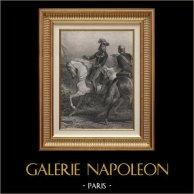 Portrait Equestre de Desaix - Mort à la Bataille de  Marengo (1768-1800) | Gravure sur acier originale dessinée par Karl Girardet, gravée par Revel. 1840