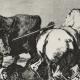 DÉTAILS 02 | La Tauromachie - Corrida en Espagne - Torero Maure à Cheval  (Francisco de Goya y Lucientes)