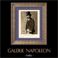 Portrait d'Edouard Manet (Henri Fantin Latour) | Héliogravure originale sur papier velin d'après Fantin Latour. Anonyme. 1910