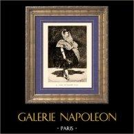 Lola de Valence - Eau Forte (Edouard Manet) | Héliogravure originale sur papier velin d'après Edouard Manet. Anonyme. 1910