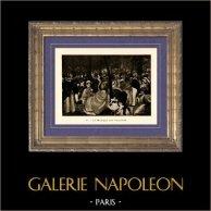 La Musique aux Tuileries (Edouard Manet) | Héliogravure originale sur papier velin d'après Edouard Manet. Anonyme. 1910