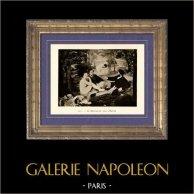 Le Déjeuner sur l'Herbe - Le Bain (Edouard Manet) | Héliogravure originale sur papier velin d'après Edouard Manet. Anonyme. 1910