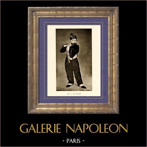 Le Fifre (Edouard Manet) | Héliogravure originale sur papier velin d'après Edouard Manet. Anonyme. 1910