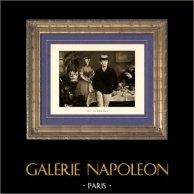 Le Déjeuner dans l'Atelier - Le Déjeuner (Edouard Manet) | Héliogravure originale sur papier velin d'après Edouard Manet. Anonyme. 1910