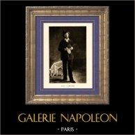 Retrato de Marcellin Desboutin - L'Artiste - Portrait de Gilbert-Marcellin Desboutin (Edouard Manet)