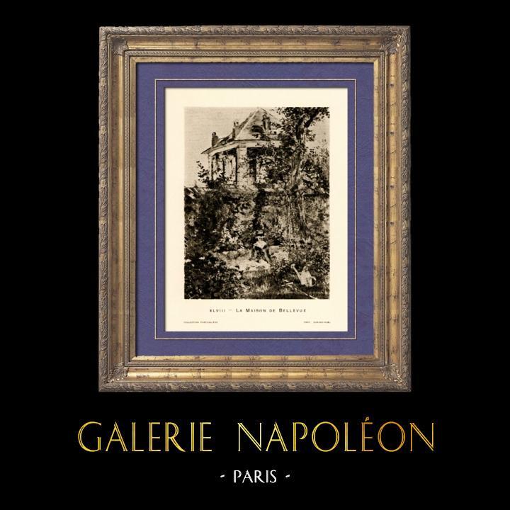 Stampe Antiche & Disegni | Ragazza in Giardino a Bellevue - Jardin de Bellevue (Edouard Manet) | Heliogravure | 1910