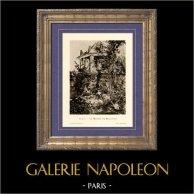 Ragazza in Giardino a Bellevue - Jardin de Bellevue (Edouard Manet) | Incisione heliogravure originale su carta velina secondo Edouard Manet. Anonima. 1910