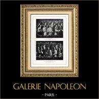 Triptych William Moreel - Guillaume Moreel - Altarpiece - Saint Christopher (Hans Memling or Memlinc)