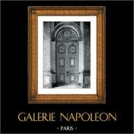 Focolare e Espelho - Chateau du Grand Trianon Versailles - Cabinet du Roi Louis XIV | Stampa originale in collotipia da Berthaud. 1894