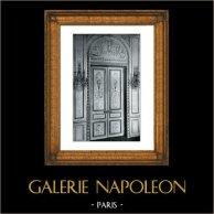 Portal - Pintura - Louis XVI - Style de Salembier - Hotel Rue Neuve des Mathurins Paris | Original grabado en fototipia de Berthaud. 1894