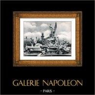 Monumental Fountain - Le Triomphe de la Ville de Paris - Exposition Universelle de 1889 (Jules Coutan)