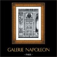 Decoration - Carved and Golden Wood - Salon des Maréchaux - Guerre - Louis XV - Ecole Militaire (Architecte Gabriel)