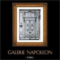 Decoration - Door - Carved Wood - Trumeau - Hotel d'Hallwill - Paris (Claude Nicolas Ledoux Architecte)