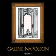 Décoration - Miroir - Bois Sculpté et Doré - XVIIIème Siècle - Château de Versailles (Jules Dugoulon - Jacob Verberckt ou Verbrecht) | Phototypie originale de Berthaud. 1894