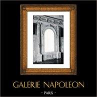 Espelho - Decoração - Mascaron - Colunas - Ordem Coríntia - XVIIème Siècle - Grand Trianon - Château de Versailles | Gravura original em fototipia de Berthaud. 1894