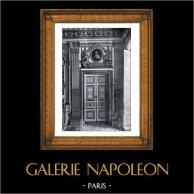 Porta - Camera da Letto -  Luigi XIV di Francia - Palazzo di Versailles - Bois Sculpté et Doré (Pierre Taupin - Jules Dugoulon) | Stampa originale in collotipia da Berthaud. 1894