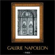 Decoration - Door - Allegory - Peinture en Camaïeu (F. Boucher - J.B. Pierre - A. Peyrotte) - Palais de Fontainebleau | Original collotype print by Berthaud. 1894