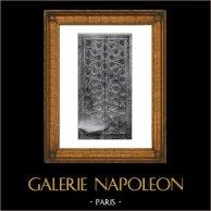 Porte - Décoration - Caissons Fleuronnés - Inscription Lettres Gothiques - XVème Siècle - Espagne - Musée des Arts Décoratifs Paris