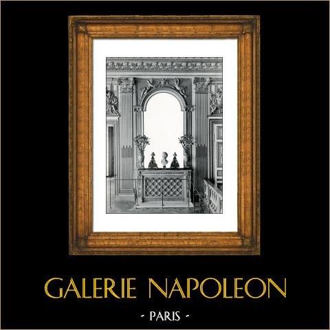 Härd - Spegel- Sovrum - Ludvig XIV av Frankrike - Slottet i Versailles - Bois Sculpté Doré (Pierre Taupin - Jules Dugoulon) | Original collotype av Berthaud. 1894