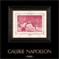 Female Nude - Erotica - Curiosa - Salammbo - Salambo with the Serpent (Gabriel Ferrier)