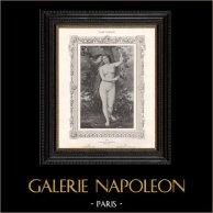 Female Nude - Erotica - Curiosa - Eve with the Serpent (P. de Granchamp)