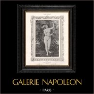 Female Nude - Erotica - Curiosa - Eve with the Serpent (P. de Granchamp) | Original erotic print in collotype after P. de Granchamp. Anonymous. 1898