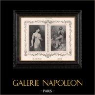 Female Nude - Erotica - Curiosa - A Following of Diana (Houssay) - Cinderella (Guillaume Dubufe)