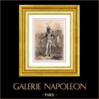 Tambour Major des Grenadiers à Pied - Guerres Napoléoniennes - Uniforme Militaire - Costume Français (19ème Siècle - XIXème Siècle)