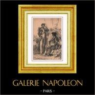 Imperial Gardet av Napoleon - Napoleonkrigen - Första Kejsardömet - Militär Uniform - Fransk Dräkt | Original litografi efter teckningar av N. Charlet. 1830