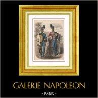 Napoléon III - Cavalerie Légère Française - 1852 - Second Empire - Uniforme Militaire - Costume Français | Gravure sur acier originale. Anonyme. Aquarellée à la main (coloris d'époque). 1868