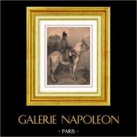 Napoleonica - Portrait of Napoleon Bonaparte - The Emperor's Last Campaign | Original lithograph drawn by N. Charlet. 1840