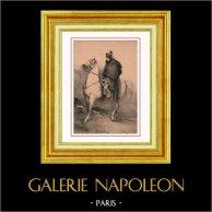 Napoleonica - Ritratto del Generale Buonaparte - Armata d'Italia | Litografia originale disegnata da N. Charlet. 1845