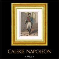 Porträtt av Jérôme Bonaparte, Bror till Napoleon (1784-1860) | Original stålstick efter teckningar av Gaildrau, graverade av Leguay. Handkolorerad. 1850