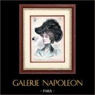 Moda Francesa - Paris - 1900 - Peinado y Sombrero - Otero 102