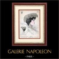 Moda Francesa - Paris - 1900 - Peinado y Sombrero - Lydia 67