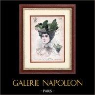 Moda Francesa - Paris - 1900 - Peinado y Sombrero - Ninette 70