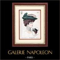 Moda Francesa - Paris - 1900 - Peinado y Sombrero - Juliano 17
