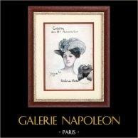 Moda Francesa - Paris - 1900 - Peinado y Sombrero - Yolande - Creación de la Maison Michniewicz Cuvée
