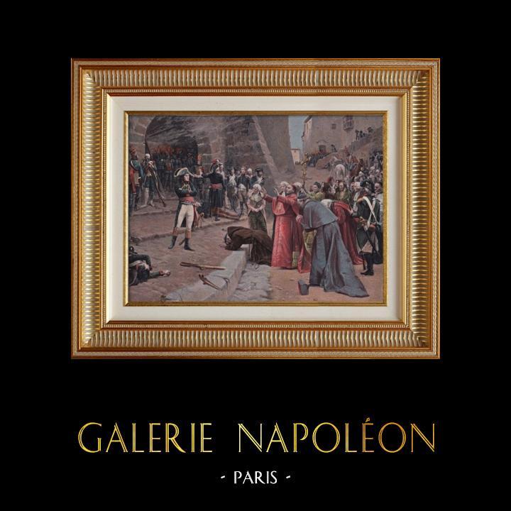 Gravures Anciennes & Dessins   Napoléon Bonaparte - Siège de Pavie - La Révolte de Pavie (Paul-Emile Boutigny)   Typogravure   1897
