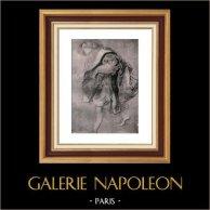 Skiss - Teckning - Etude pour la Conversation à la Mode - Trädgården av Förälskelse (Peter Paul Rubens) | Original heliogravyr på velängpapper av Holland Van Gelder Zonen. Anonymt. 1910