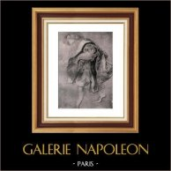 Croquis - Dibujo - Etude pour la Conversation à la Mode - El Jardín de Amor (Peter Paul Rubens) | Original helio grabado sobre papel vitela (Vélin) de Holanda Van Gelder Zonen. Anónimo. 1910