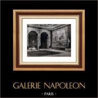 Décoration - Rubens - Tapisseries - Balustrades - Marbre - Palais de l'Exposition - Bruxelles - Rez de Chaussée - Narthex